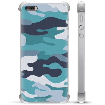 iPhone 5/5S/SE Hybrid Case - Blue Camouflage