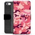 iPhone 5/5S/SE Premium Wallet Case - Pink Camouflage