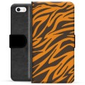 iPhone 5/5S/SE Premium Wallet Case - Tiger