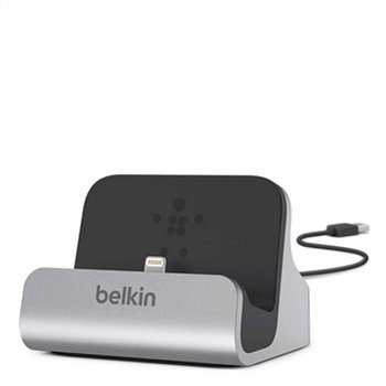 Belkin Docking Station - iPhone 6S Plus, iPhone 6 / 6S, iPhone 5 / 5S - Black / Grey