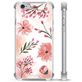 iPhone 6 / 6S Hybrid Case - Pink Flowers