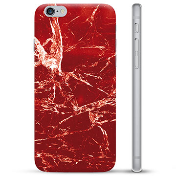 iPhone 6 / 6S TPU Case - Red Marble