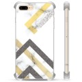 iPhone 7 Plus/ iPhone 8 Plus Hybrid Case - Abstract Marble