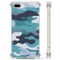 iPhone 7 Plus/ iPhone 8 Plus Hybrid Case - Blue Camouflage
