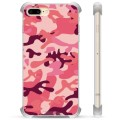 iPhone 7 Plus/ iPhone 8 Plus Hybrid Case - Pink Camouflage