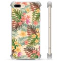 iPhone 7 Plus/ iPhone 8 Plus Hybrid Case - Pink Flowers
