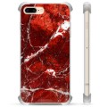 iPhone 7 Plus/ iPhone 8 Plus Hybrid Case - Red Marble