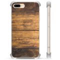iPhone 7 Plus/ iPhone 8 Plus Hybrid Case - Wood