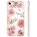 iPhone 7 / iPhone 8 TPU Case - Pink Flowers