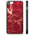iPhone 7 / iPhone 8 Protective Cover - Red Marble