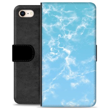 iPhone 7 / iPhone 8 Premium Wallet Case - Blue Marble