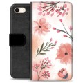 iPhone 7 / iPhone 8 Premium Wallet Case - Pink Flowers