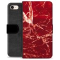 iPhone 7 / iPhone 8 Premium Wallet Case - Red Marble