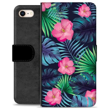 iPhone 7 / iPhone 8 Premium Wallet Case - Tropical Flower