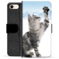 iPhone 7/8/SE (2020) Premium Wallet Case - Cat