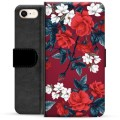 iPhone 7 / iPhone 8 Premium Wallet Case - Vintage Flowers