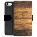 iPhone 7/8/SE (2020) Premium Wallet Case - Wood