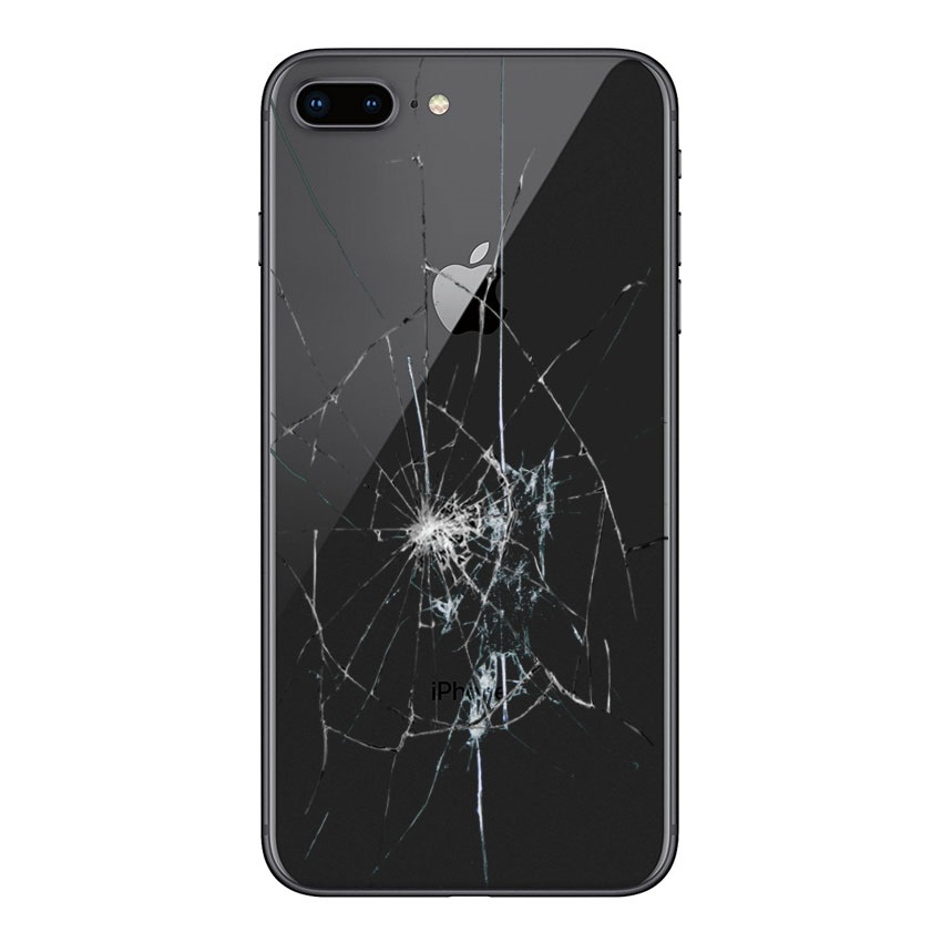 iPhone 8 Plus Back Cover Repair - Glass Only - Black