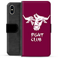 iPhone XS Max Premium Wallet Case - Bull
