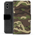 iPhone XS Max Premium Wallet Case - Camo