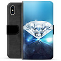 iPhone XS Max Premium Wallet Case - Diamond
