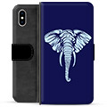 iPhone X / iPhone XS Premium Wallet Case - Elephant