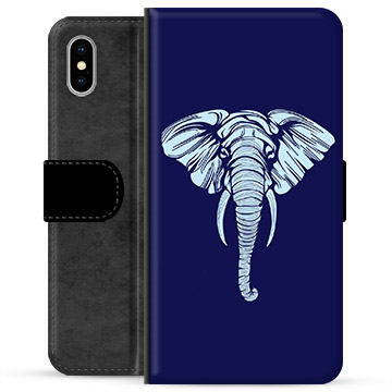 iPhone XS Max Premium Wallet Case - Elephant