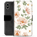 iPhone X / iPhone XS Premium Wallet Case - Floral