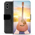 iPhone XS Max Premium Wallet Case - Guitar