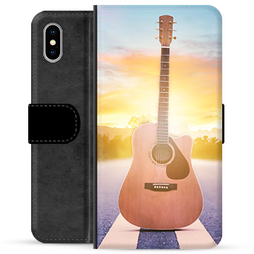 iPhone X / iPhone XS Premium Wallet Case - Guitar