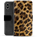 iPhone XS Max Premium Wallet Case - Leopard
