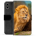 iPhone XS Max Premium Wallet Case - Lion