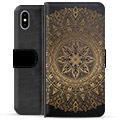 iPhone XS Max Premium Wallet Case - Mandala