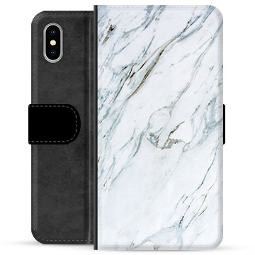 iPhone XS Max Premium Wallet Case - Marble