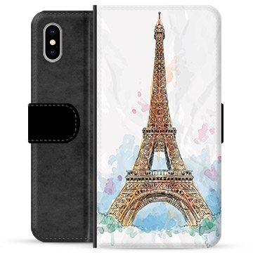 iPhone X / iPhone XS Premium Wallet Case - Paris