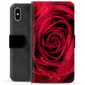 iPhone XS Max Premium Wallet Case - Rose