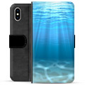 iPhone XS Max Premium Wallet Case - Sea