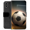 iPhone XS Max Premium Wallet Case - Soccer