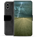 iPhone X / iPhone XS Premium Wallet Case - Storm