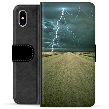 iPhone XS Max Premium Wallet Case - Storm