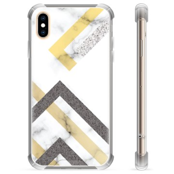 iPhone X / iPhone XS Hybrid Case - Abstract Marble