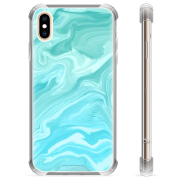 iPhone X / iPhone XS Hybrid Case - Blue Marble