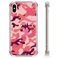 iPhone X / iPhone XS Hybrid Case - Pink Camouflage