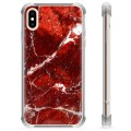 iPhone X / iPhone XS Hybrid Case - Red Marble