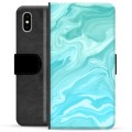 iPhone X / iPhone XS Premium Wallet Case - Blue Marble