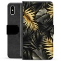 iPhone X / iPhone XS Premium Wallet Case - Golden Leaves