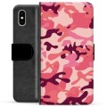 iPhone X / iPhone XS Premium Wallet Case - Pink Camouflage