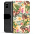 iPhone X / iPhone XS Premium Wallet Case - Pink Flowers