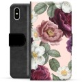 iPhone X / iPhone XS Premium Wallet Case - Romantic Flowers
