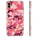 iPhone X / iPhone XS TPU Case - Pink Camouflage